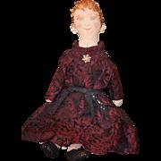 Old Doll Cloth Doll Rag Doll Fancy Unusual Folk Art Lady