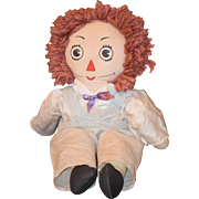 Old Doll Raggedy Andy Unusual Cloth Doll Rag Doll
