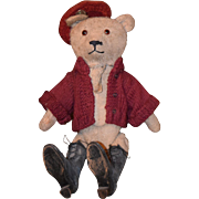 Old Teddy Bear Mohair Jointed w/ Squeaker