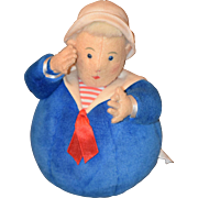 Schylling Toys Roly Poly Cloth Doll Sailor Man Felt Rattle