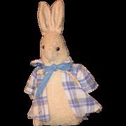 Old Doll Cloth Rabbit Mr. Rabbit Mr. Bunny Folk Art Primitive