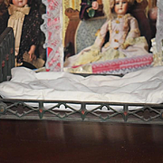 Old Doll Cast Iron Doll Bed French Fashion Ornate Unusual