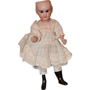 Antique Doll French Bisque Miniature Dollhouse Tall Boots Thigh High Stockings Swivel Head