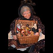 Vintage Doll Peddler Artist Doll Rosemarie Doll Signed Big Lady