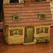 Old Doll Dollhouse Miniature Cottage Stucco Unusual WONDERFUL
