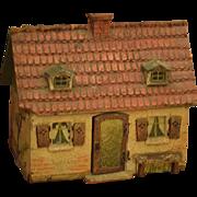 Old Doll Dollhouse Miniature Cottage Stucco Unusual WONDERFUL