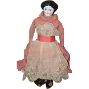 Antique Doll China Head Brown Eye Smiling