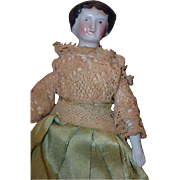 Antique Doll China Head Miniature Dollhouse Fancy Lady