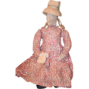 Old Doll Cloth Doll Rag Doll Primitive Folk Art Lady Doll