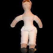 Old Doll Cloth Doll Rag Doll Folk Art Primitive W/ Character!