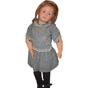 Antique Doll Schoenhut Character Jointed Wood Carved Character