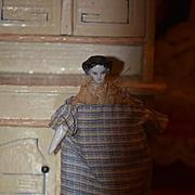 Antique Doll Miniature China Head Dollhouse