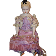 Vintage Doll Emma Clear Parian China Head Fancy Hair Style
