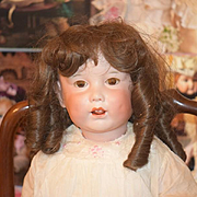 """Antique Doll Bisque FRENCH SFBJ 251 Character WONDERFUL BIG Girl Dressed Twirp 26"""""""