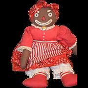 Vintage Doll Belindy Black Cloth Doll Rag Doll Raggedy Ann Friend