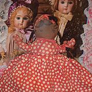 Old Doll Cloth Doll Rag Doll Oil Cloth Topsy Turvy Black Doll White Doll Unusual
