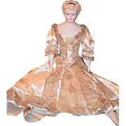 Vintage Doll Emma Clear Parian China Head Gorgeous