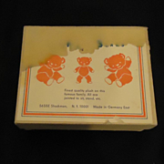Old Miniature Jointed Bears Bear In Original Box Germany Toy