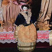 Antique Doll Miniature China Head Solid Dome Dollhouse