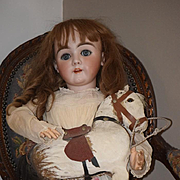 "Antique Doll Henrich Hanwerck HUGE 36"" Bisque Head UNUSUAL LOOK Stunning! BEST FACE EVER!"