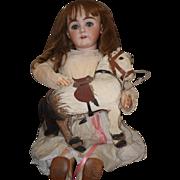 "Antique Doll Henrich Hanwerck HUGE 36"" Bisque Head UNUSUAL LOOK Stunning! BEST FACE EVER!"