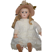Antique Doll French Bisque TeTe Jumeau Fancy Girl Big Girl