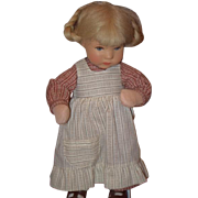 Vintage Doll Kathe Kruse Cloth Artist Doll Original Clothing