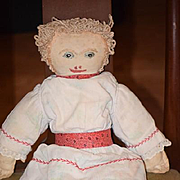 Old Doll Cloth Doll Rag Doll Folk Art Primitive Unusual