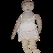 Old Doll Cloth Doll Rag Doll Folk Art Primitive Unusual Sweet!