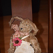 Vintage Doll Toy Bear Witness By Louise Clinton Rabbit Artist Jointed Tagged