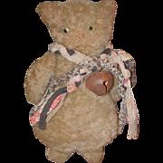 Old Doll Cat Mohair Doll Folk Art Unusual