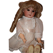 "Antique Doll Bisque Heubach 8192 Dressed Adorable Cabinet Size 14"" Tall"