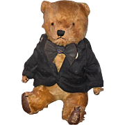 Old Teddy Bear Mohair Jointed Adorable Doll Friend Leather Paws