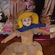 Vintage Doll Norah Wellings Cloth Doll W/ Original Tag