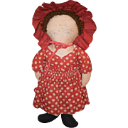 Old Doll Cloth Doll Rag Doll Folk Art Primitive Sweetie Pie!