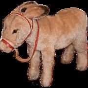 Doll Toy Steiff Donkey W/ Button in Ear Mohair