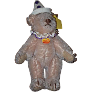 Miniature Doll Toy Steiff Teddy Bear Jointed Tag W/ Birthday Hat Button