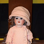 Antique Doll Bisque Schuetzmeister & Quendt Character Adorable 201