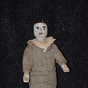 Old Doll Wood Doll Primitive Carved Jointed Unusual