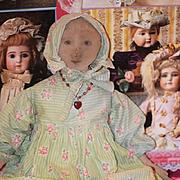 Old Doll Cloth Doll Rag Doll Folk Art Primitive W/ Provenance Unusual