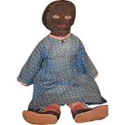 Old Doll Black Doll Cloth Doll Rag Doll Folk Art Primitive