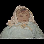 Old Doll Cloth Doll Rag Doll Primitive Folk Art Big Wonderful