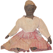 Old Doll Cloth Doll Rag Doll Folk Art Primitive Black Doll Old Doll Clothing Wonderful