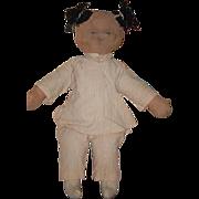 Old Doll Cloth Doll Rag Doll Oriental Primitive Sweet & Unusual