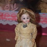 Antique Doll Miniature Original Factory Clothes Bisque Dollhouse Miniature