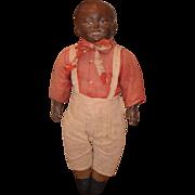 Old Doll Black Doll Cotton Joe Original Tag