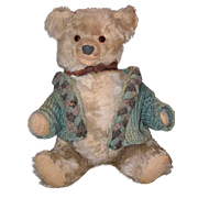 Old Teddy Bear Wonderful Face Jointed Mohair Cutest Face Ever Doll Friend