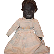 Old Doll Cloth Doll Rag Doll Folk Art Primitive Unusual Mask Face