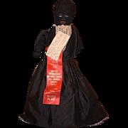 Old Doll Black Cloth Doll Rag Doll Folk Art Primitive W/ Provenance White Cloth Doll Topsy Turvy