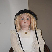 "Antique Doll HUGE Bisque 32"" Kestner 164 Dressed GORGEOUS"